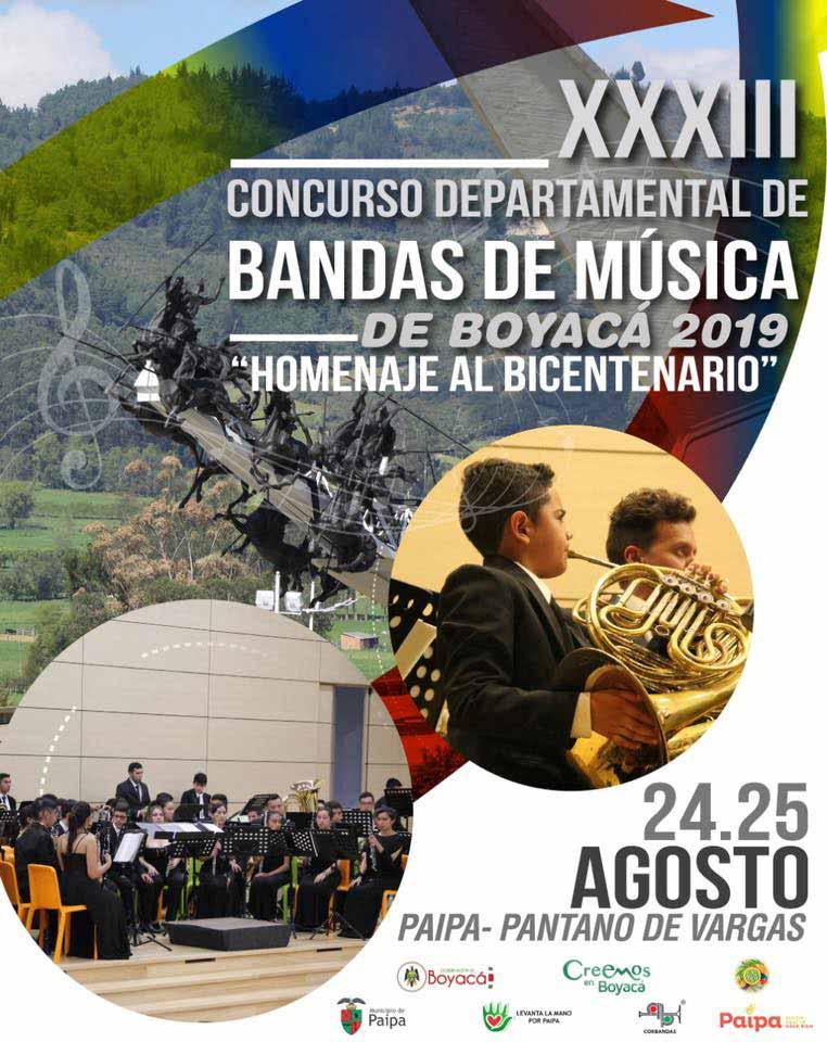 Concurso Departamental de Bandas de Música de Boyacá 2019