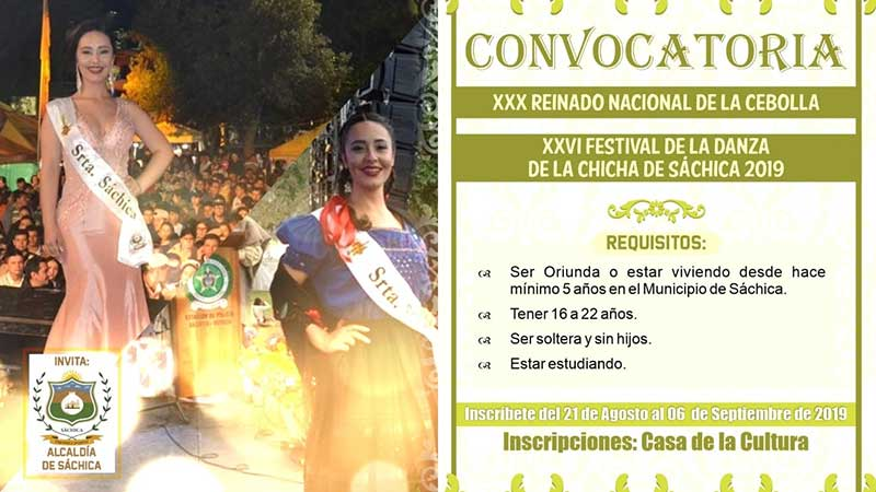Convocatoria III Reinado Nacional de la Cebolla XVI Festival de la Danza de la Chicha