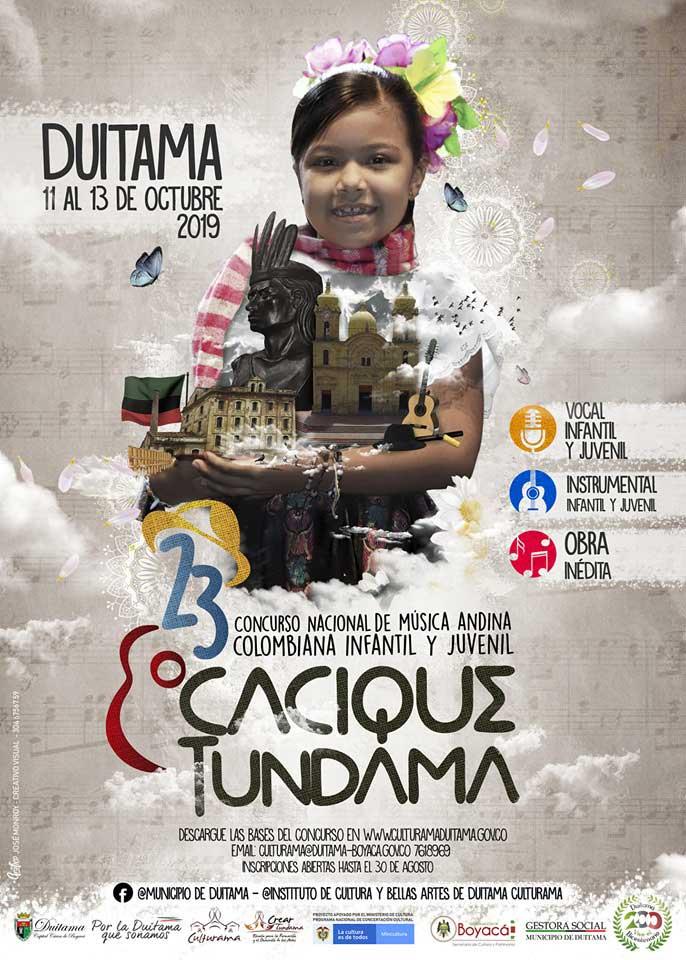 """23º Concurso Nacional de Música Andina Colombiana Infantil y Juvenil """"Cacique Tundama"""", Duitama 2019"""