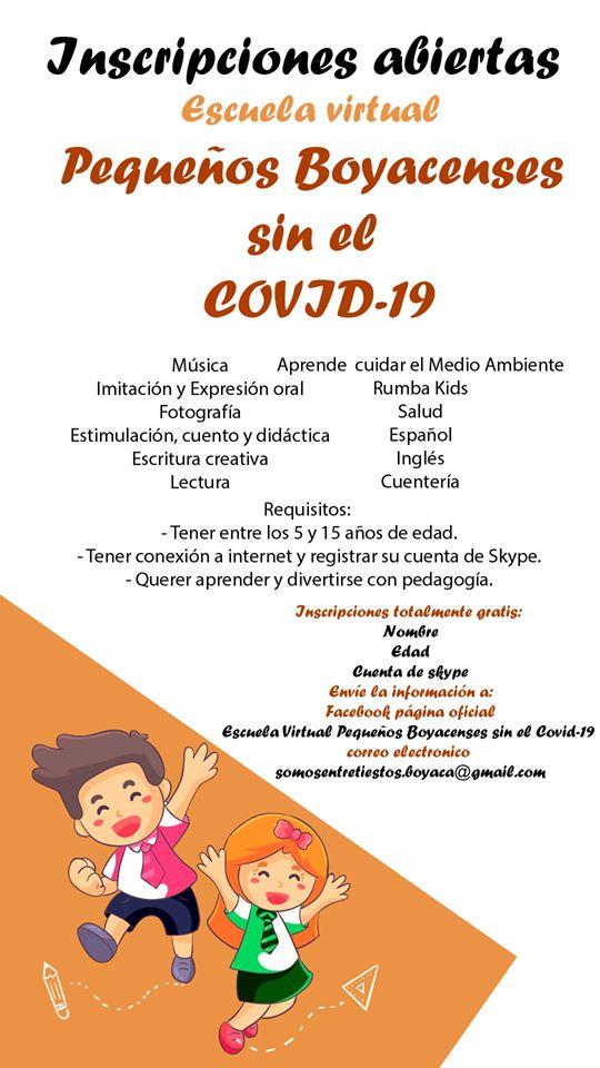 """Escuela Virtual """"Pequeños Boyacenses sin Covid-19"""""""