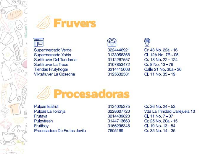 Directorio de abastecimiento Duitama - fruvers