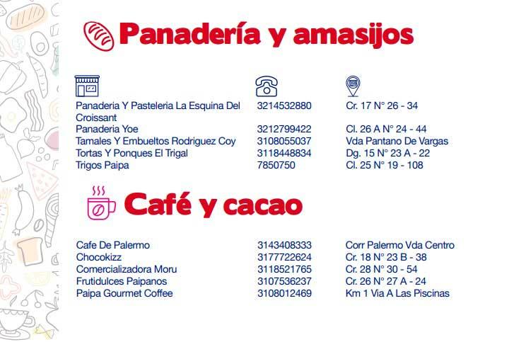 Directorio de abastecimiento Paipa-panaderias y amasijos