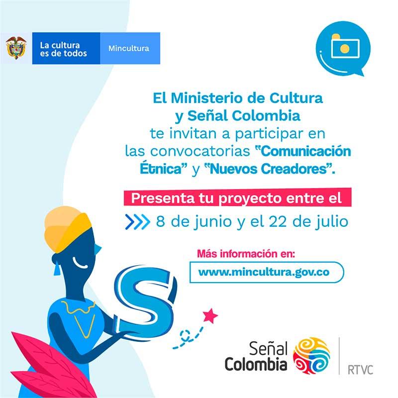 MinCultura en alianza con Señal Colombia-RTVC, abre dos convocatorias para la producción de contenidos audiovisuales