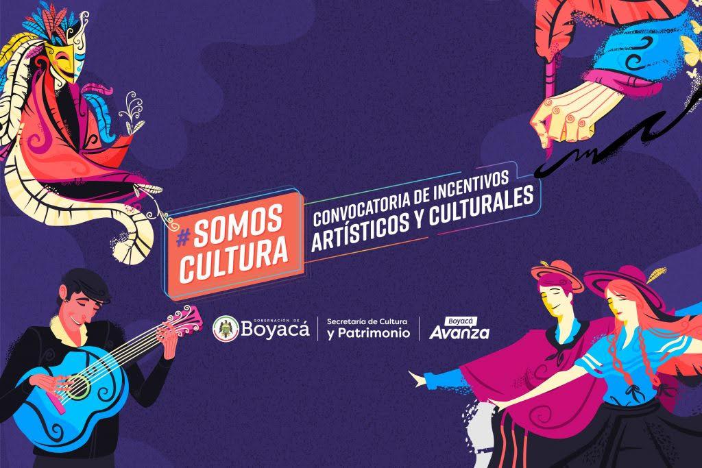 Convocatoria de incentivos artísticos y culturales. Gobernación de Boyacá, 2020